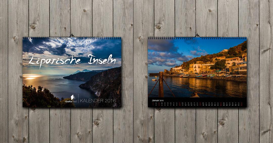 GrafixPool Kalender Liparische Inseln 2016
